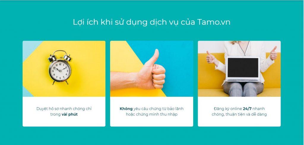 Vay tiền tại Tamo đem lại nhiều lợi ích cho khách hàng